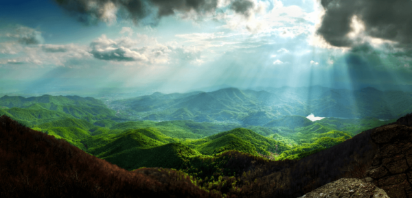 Lighted Mountains