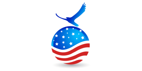 American Flag with Dove