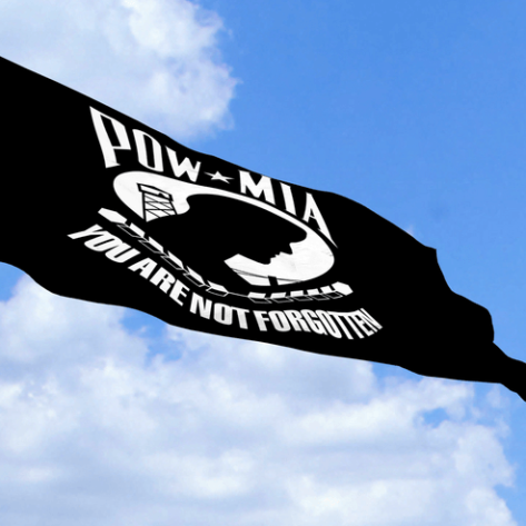 POW-MIA Flag Waving