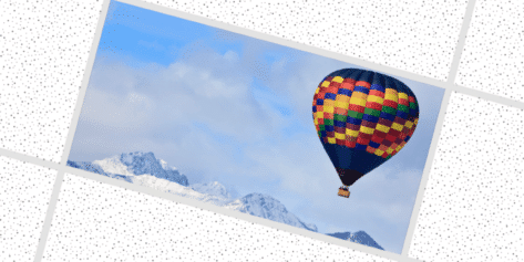 Air Balloon Over Mountains