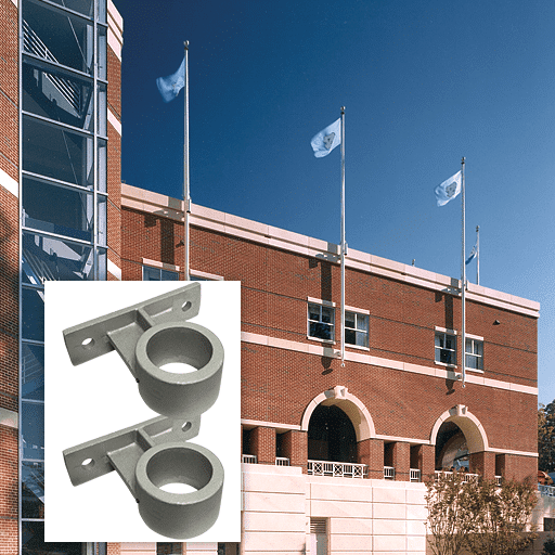 Vertical Wall Mounted Flagpoles