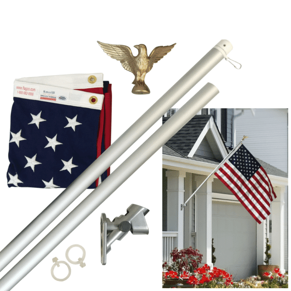 Presidential Flagpole Kit With US Flag