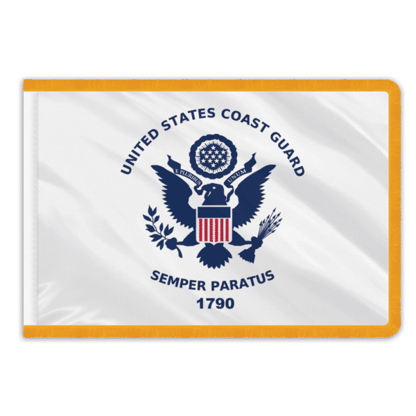 Coast Guard Indoor Perma-Nyl Nylon Flag - 3'x5'