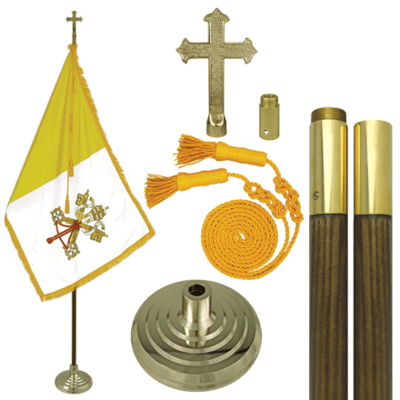Vatican City Papal Indoor Flag Set Valley Forge