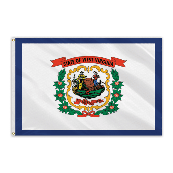 West Virginia Outdoor Spectrapro Polyester Flag - 3'x5'