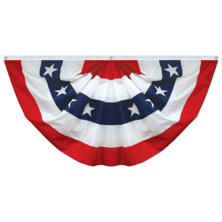 Polycotton Full Fan Flag with Stars 3'x6'