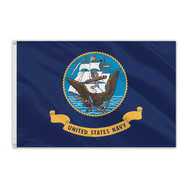 Navy Outdoor Perma-Nyl Nylon Flag - 4'x6'