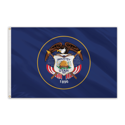 Utah Outdoor Spectrapro Polyester Flag - 5'x8'