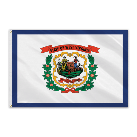 West Virginia Outdoor Spectrapro Polyester Flag - 5'x8'
