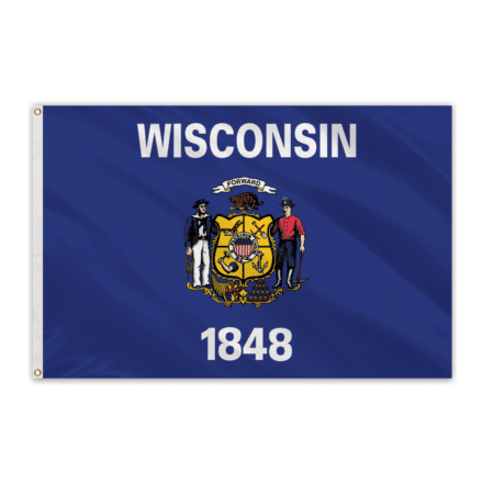 Wisconsin Outdoor Spectrapro Polyester Flag - 5'x8'